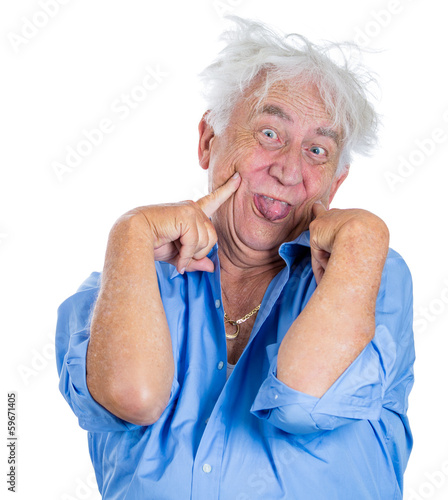 "crazy, agitated, unhinged elderly, senior man"" stock photo and, Skeleton"