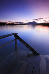 Jetty at sunrise in Sabah, Borneo, Malaysia