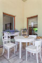 Mediterranean interior - dining room
