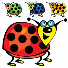 cute ladybugs set