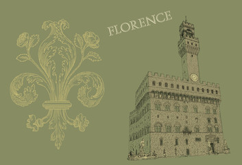 Florence view illustration