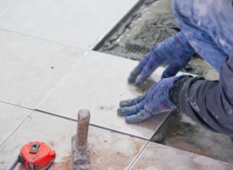 tiler at home renovation work
