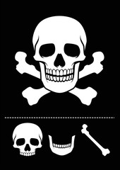 skull and crossed bones icon