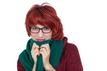 Fashionable woman with glasses