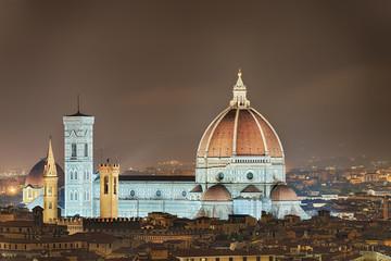 Fototapete - Dom Florenz Italien beleuchtet
