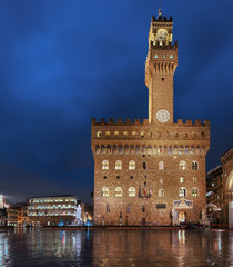 Wall Mural - Palazzio Vecchio Panorama Florenz Italien