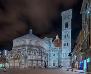 Wall Mural - Dom Panorama Florenz Italien beleuchtet