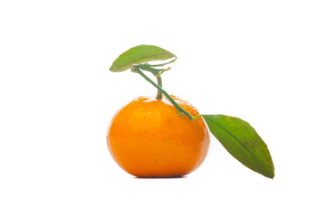 Natural tangerine or mandarin fruit