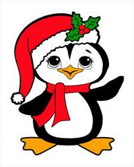Christmas-Cartoon Penguin