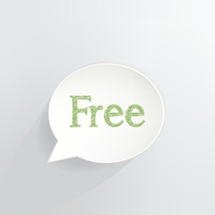 Free Sign Speech Bubble