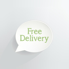 Free Delivery Speech Bubble