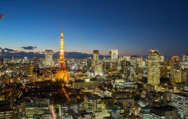 Tokyo Tower cityscape dusk