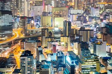 Osaka downtown at night