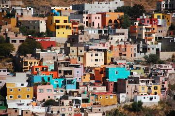 Door stickers Mexico カラフルな家々
