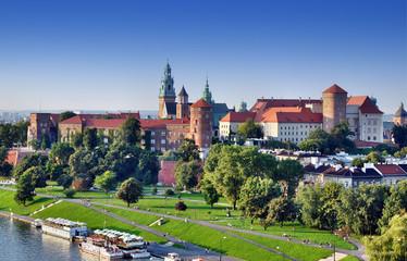 Autocollant pour porte Cracovie Wawel Castle in Krakow, Poland