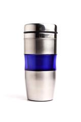steel mug isolated on white