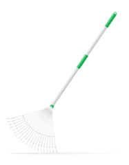 garden tool rake vector illustration