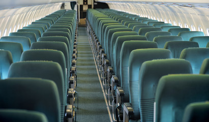 Printed roller blinds Stadion Aircraft seating view
