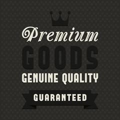Discount sale label, quality goods concept