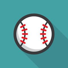 Baseball ball retro poster, sport and recreation concept