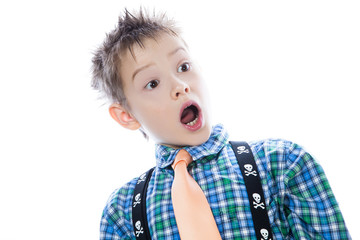 Little boy with open mouth