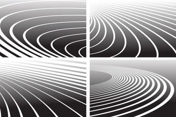 Track lines. Abstract backgrounds set.