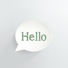 Hello Speech Bubble Sign
