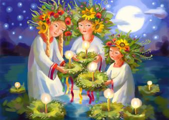 Summer solstice. Midsummer Day. Ivan Kupala