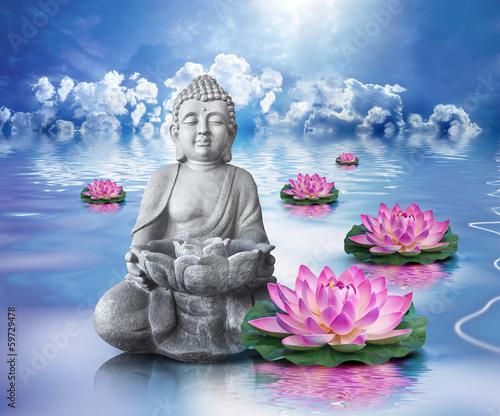 Fototapete Statue Bouddha et bien-être
