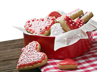 baked hearts for Valentine's day