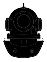 silhouette diving helmet