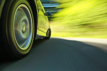 Fototapete - Car speeding.