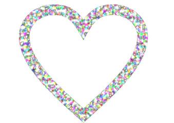Hintergrund Herzrand in Regenbogenfarben