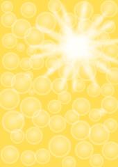 Hintergrund gelb mit Kreise und Stern