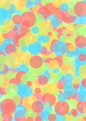 Hintergrund bunte pastellfarbene Kreise