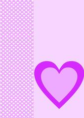 Karte Hintergrund weiße Herzen ein lila Herz
