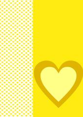 Karte Hintergrund gelbe Herzen ein gelbes Herz