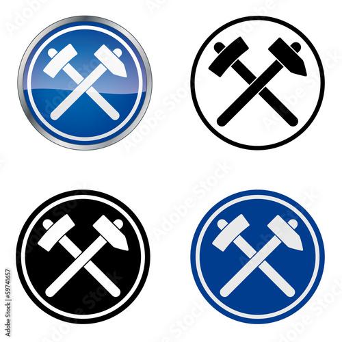 Dachdecker symbol  Zunftzeichen Dachdecker Handwerk