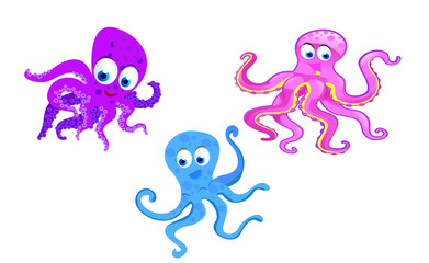 kinds of octopus cartoon