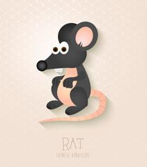 Chinese zodiac set Year of the Rat