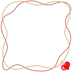 Valentine frame with heart pendant