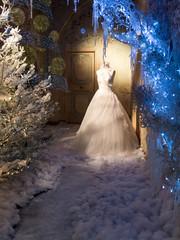 Winter display of Wedding Dress