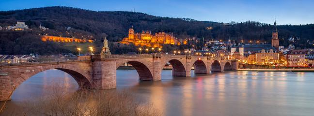 Fotomurales - Heidelberg Alte Brücke und Schloss
