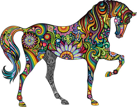 Cheerful horse