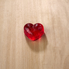 Valentines day, red sweet candies in heart shape