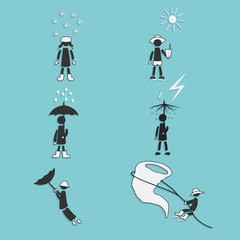 Weather Icons Set. Vector Illustration