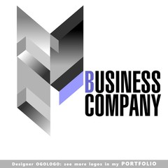 building abstract business logo emblem vector