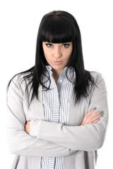 Sulking Unforgiving Young Woman