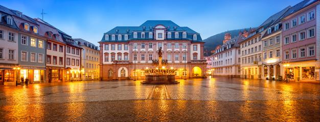 Fotomurales - Heidelberger Marktplatz Panorama