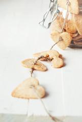 Cookie Broken from Jar, selective focus